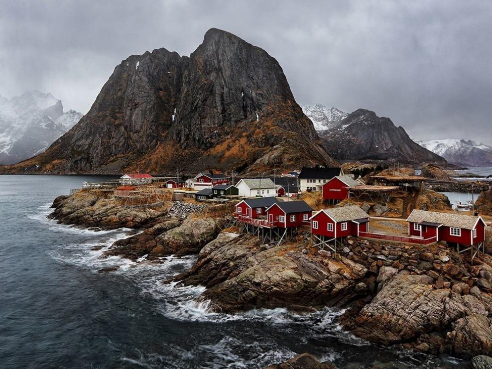 قدیمی ترین و جذاب ترین روستای ماهیگیری در Lofoten، نروژ