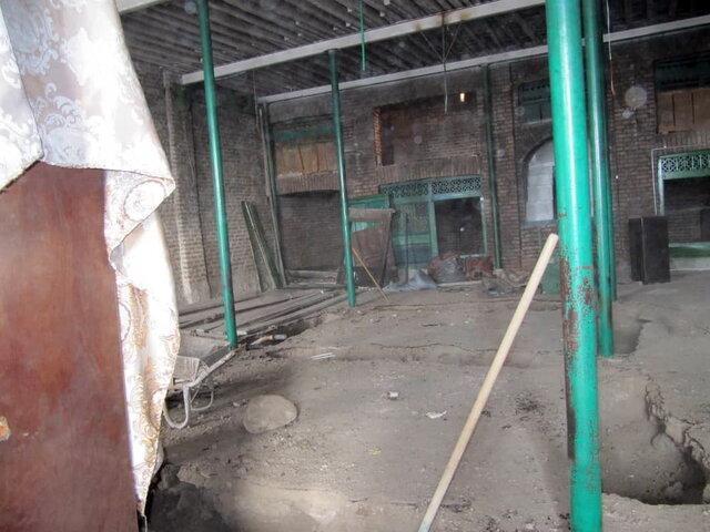 مسجد تاریخی آلوارس با یاری اهالی روستا مرمت می گردد