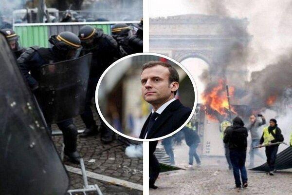 جلیقه زردها در فرانسه به خیابان های پاریس بازگشتند