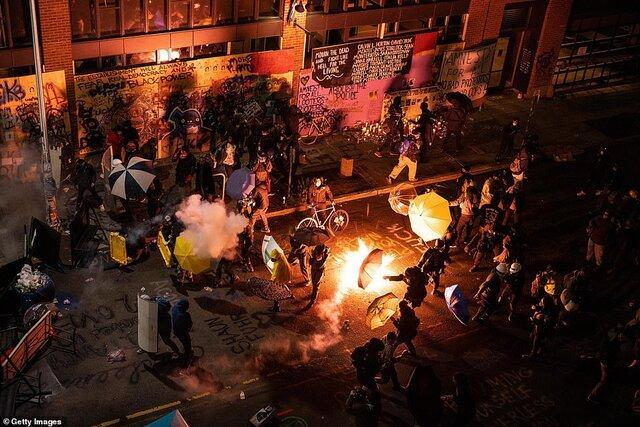تصرف بخش هایی از سیاتل توسط معترضان آمریکایی