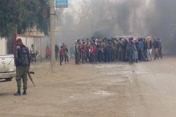 اعتراضات گسترده علیه نیروهای مورد حمایت آمریکا در شرق سوریه