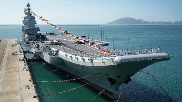 رزمایش ناو هواپیمابر چین در دریای جنوبی
