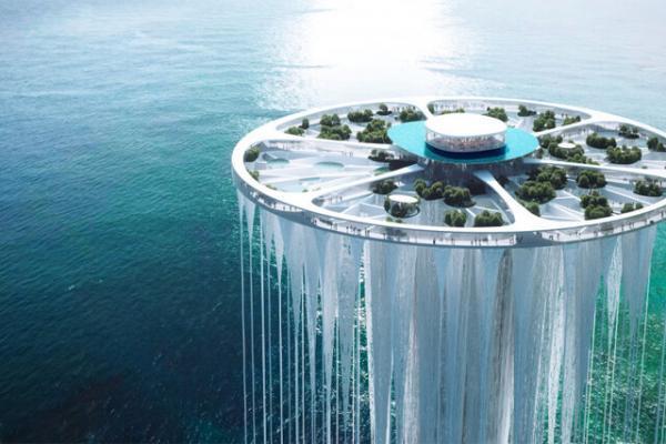 برج آسمانی معلق در چین طراحی شد