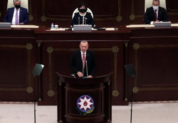 اردوغان: امروز و فردا با تمام امکاناتمان در کنار جمهوری آذربایجان هستیم