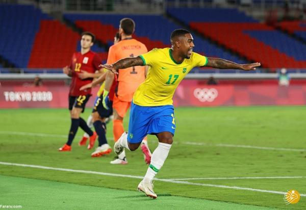 دومین قهرمانی متوالی برزیل در فوتبال المپیک