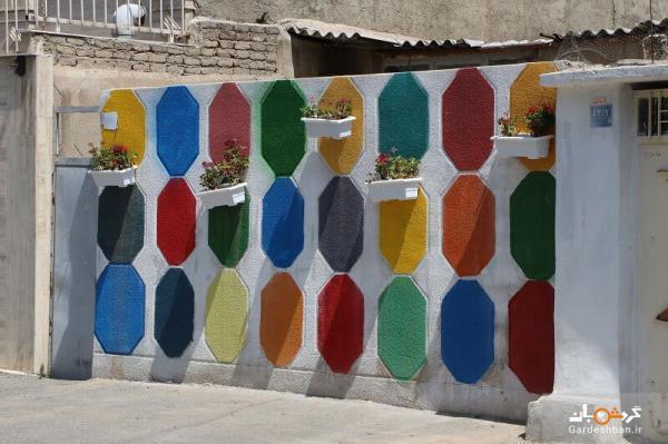 اولین کوچه رنگی شهر تهران، عکس